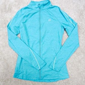 Lorna Jane teal zip up jacket